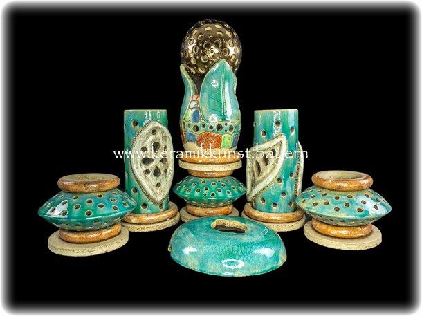 Lichtstele Lichtsaeule Persisch Blau
