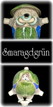Vogelnistkasten Hoehle Smaragdgruen Keramik