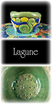 Keramiknapf L in Lagune